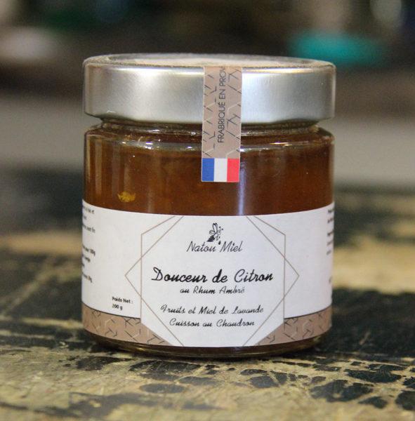 confiture citron rhum ambre natou miel