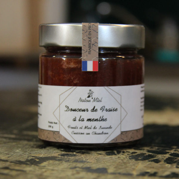 confiture fraise menthe natou miel