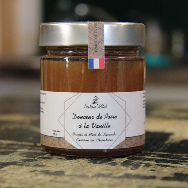 confiture poire vanille natou miel