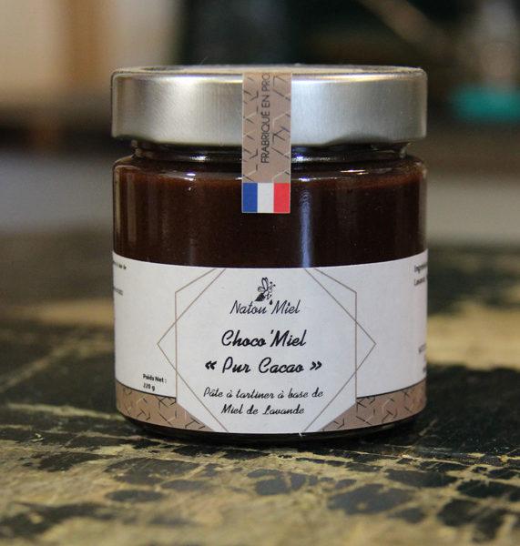 pate a tartiner choco miel cacao natou mile