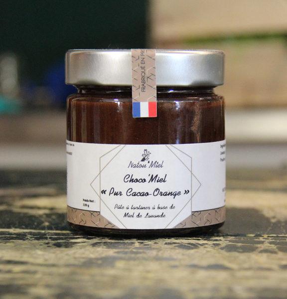 pate a tartiner choco miel cacao orange natou mile