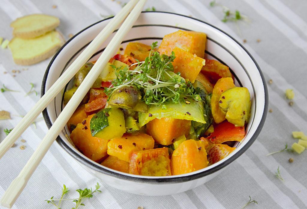 recette detox courgette potiaon au curry