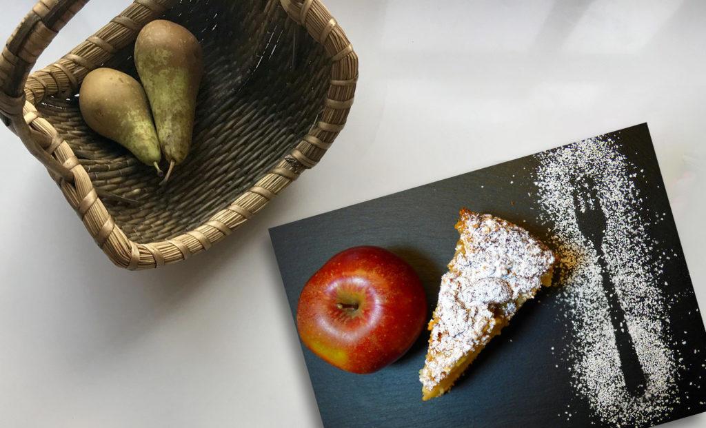 gateau invisible pommes et poires