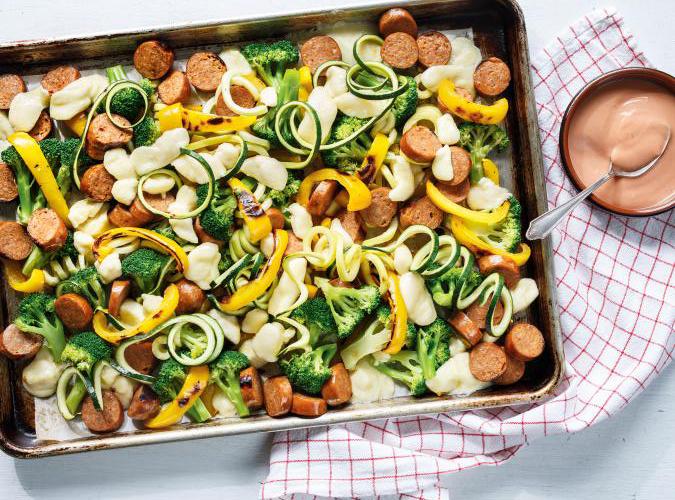 One Pan aux saucisses et légumes