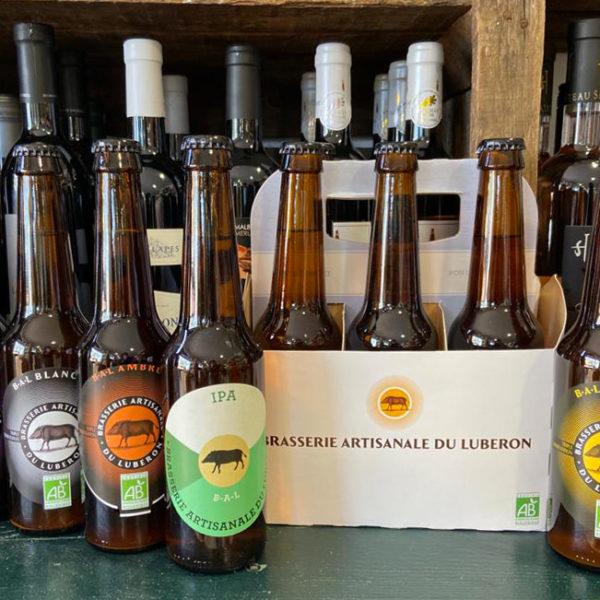 la gamme des bières artisanales du Luberon