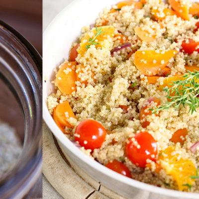 quinoa aux légumes le potager de coudoux